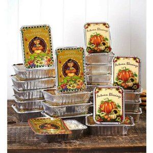 Holiday Leftover Goodie Food Container Set  12Pc T